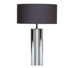 1970's-Brushed-and-Polished-Chrome-Lamp-Base-min