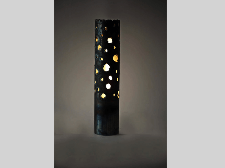 Awesome Metal Lamp With Perforations