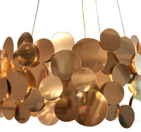 Polished Brass Disc Chandelier