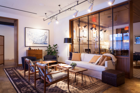 Custom Lighting for The Smyth Hotel featured in The New York Times