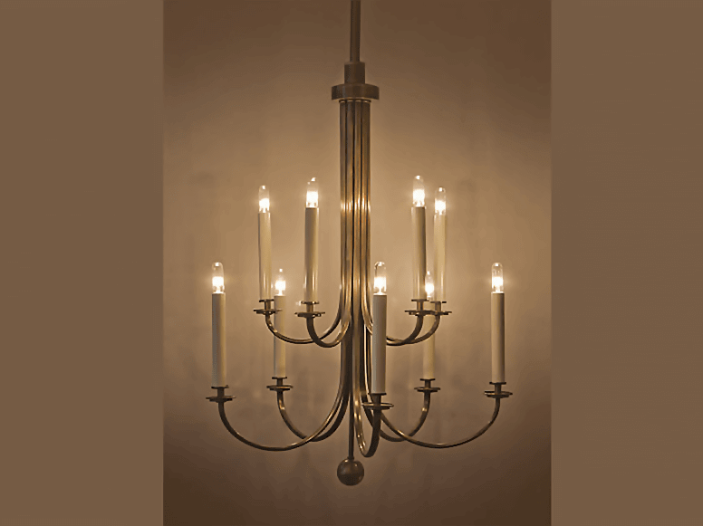 Candelabra brass chandeliertrans luxe custom lighting and shades candelabra brass chandelier mozeypictures Image collections