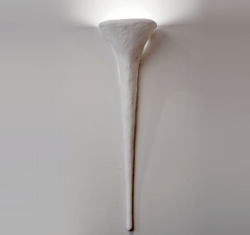 Custom Plastered Sconce