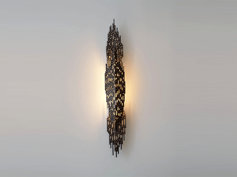 Open Weave Metal Sconce 01