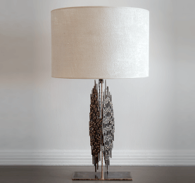 Open Weave Metal Table Lamp