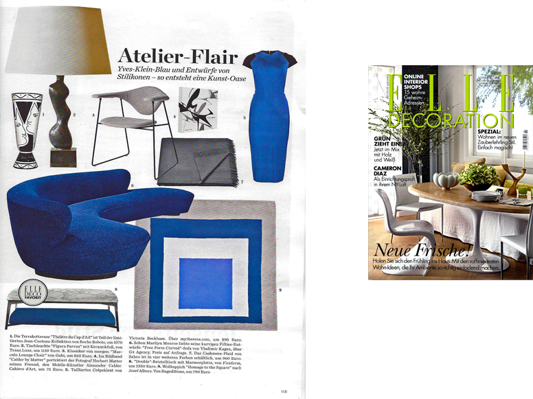 elle decor germany march april 2014 trans luxetrans luxe custom lighting and shades hand. Black Bedroom Furniture Sets. Home Design Ideas