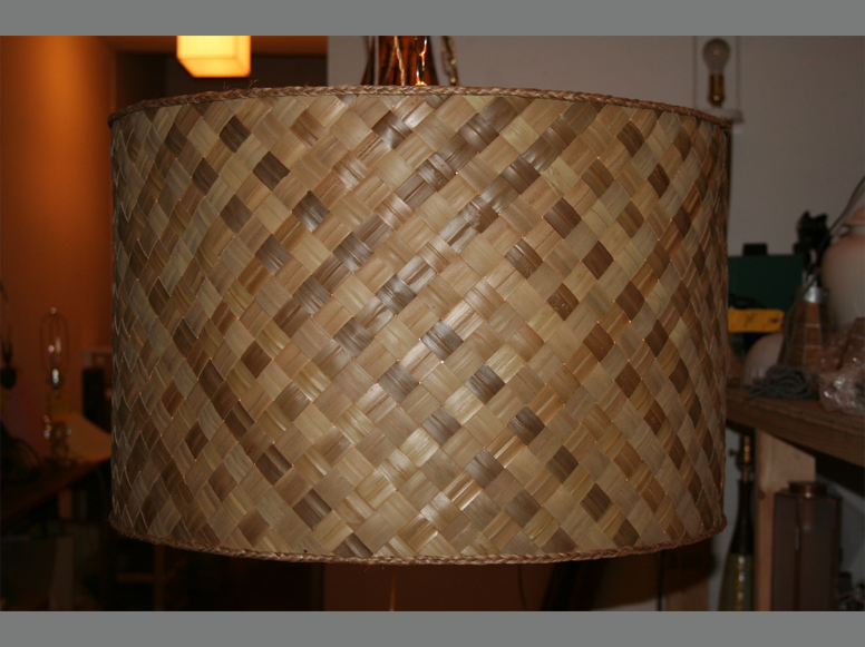 Custom bamboo raffia lampshade trans luxetrans luxe custom custom bamboo raffia lampshade trans luxetrans luxe custom lighting and shades hand made in new york city mozeypictures Gallery