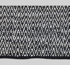 Rug Herringbone Black _white-min