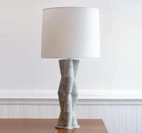 Totom Shagreen Finish Table Lamp