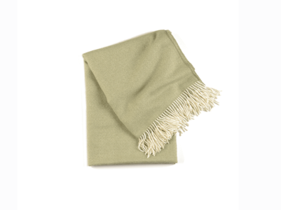 Timeless Moss Baby Alpaca Throw