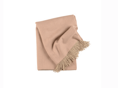 Timeless Nude Baby Alpaca Throw