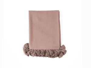 Timeless Nude with Tassels Baby Alpaca Throw