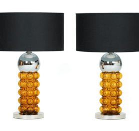 Vintage-1960's-Chrome-and-Amber-Lamps-min