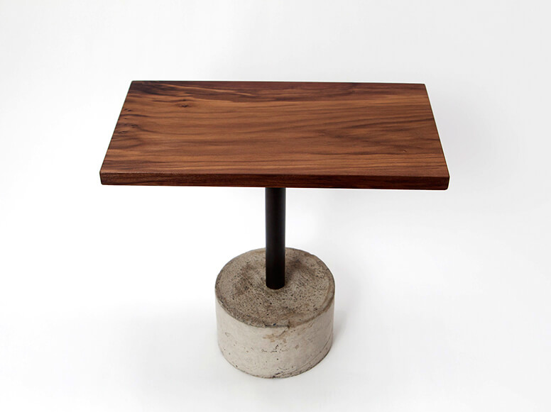 Walnut Wood Cement Table