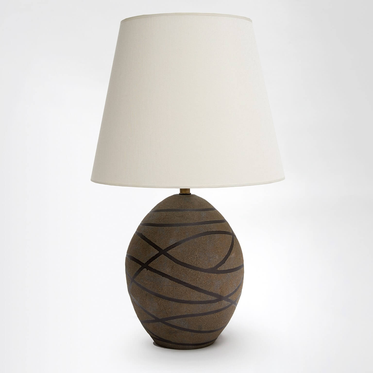 Home products lighting trans luxetrans luxe custom lighting and black stripes ceramic glazed matte texture oval aloadofball Gallery