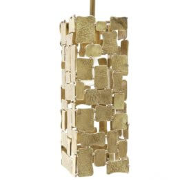 brass tile pendent trans-luxe.com