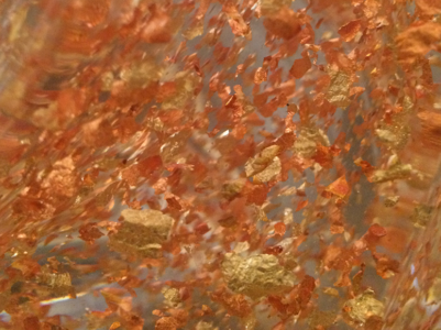 Gold Leaves inside Twisted Table Lamp