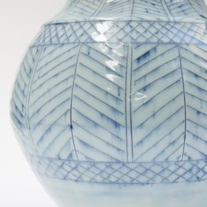 Haakon Lenzi Blue and White Vase